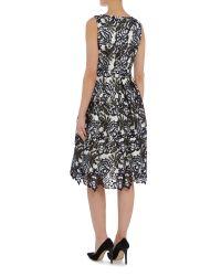 Ariella - Black Fit And Flare Lace Tea Dress - Lyst