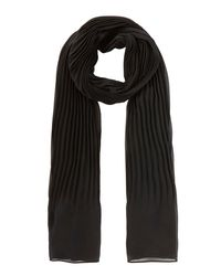 Coast | Black Niko Pleated Scarf | Lyst
