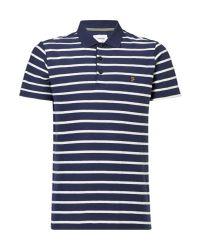 Farah | Blue Randall Herringbone Polo Shirt for Men | Lyst