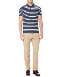 Farah - Blue Randall Herringbone Polo Shirt for Men - Lyst