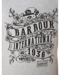 Barbour - Black International Riser Tee - Lyst