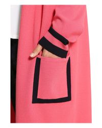 Basler | Pink Long Line Cardigan | Lyst