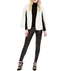 Jane Norman - White Cape Blazer Jacket - Lyst