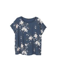 Mango | Blue Flowy T-shirt | Lyst