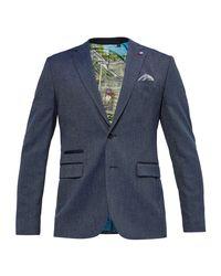 Ted Baker   Blue Wingit Mini Design Jacket for Men   Lyst