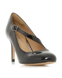 Dune | Black Anitta Asymetric Strap Court Shoes | Lyst