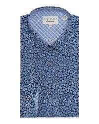 Ted Baker | Blue Nimph Leaf Tonal Print Shirt for Men | Lyst
