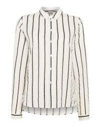Vero Moda | White Stripy Long Sleeve Shirt | Lyst