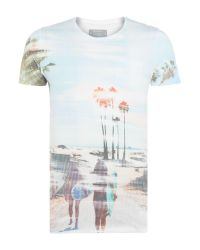 Guess | White Sublimation Sunset Print T-shirt for Men | Lyst