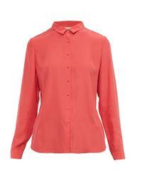 Ted Baker   Pink Gussie Button-front Silk Shirt   Lyst