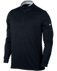 Nike | Black Dri-fit Half-zip Jumper for Men | Lyst