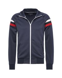 Tommy Hilfiger   Blue Mick Zip Through Track Top for Men   Lyst