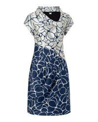 James Lakeland   Gray Taffeta Jacquard Dress   Lyst