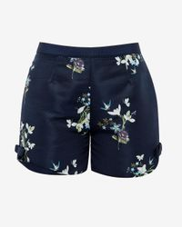 Ted Baker | Blue Entangled Enchantment Shorts | Lyst