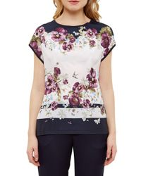 Ted Baker Multicolor Entangled Enchantment Print