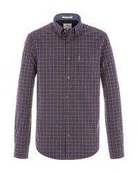 Ben Sherman | Purple Long Sleeve House Gingham Shirt for Men | Lyst