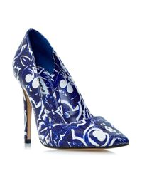 Dune | Blue Pointed Toe Stiletto Court Shoes | Lyst