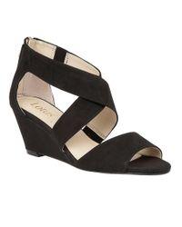 Lotus   Black Cheeney Open Toe Wedge Sandals   Lyst