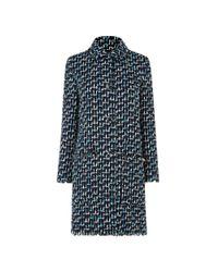 L.K.Bennett | Blue Vetti Linton Tweed Coat | Lyst