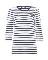 Tommy Hilfiger | White Stripe Heart Badge T-shirt | Lyst