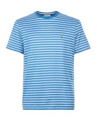Lacoste   Blue Fine Striped T-shirt for Men   Lyst
