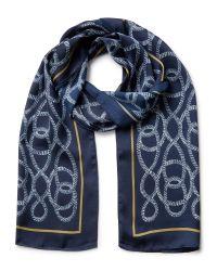 Eastex | Blue Rope Print Scarf | Lyst