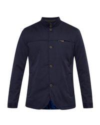 Ted Baker   Blue Ziggy Funnel Neck Jacket for Men   Lyst