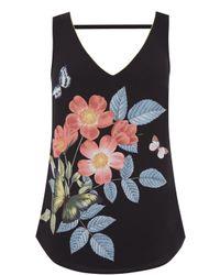 Oasis | Black Emma Placement Vest | Lyst