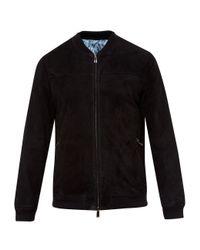 Ted Baker | Black Hifi Goatskin Bomber Jacket for Men | Lyst
