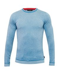 Ted Baker | Blue Textured Sweater for Men | Lyst