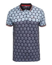Ted Baker   Gray Birdy Ombré Cotton-blend Polo Shirt for Men   Lyst