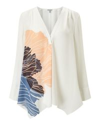 Jigsaw | Multicolor Floating Poppy Trapeze Blouse | Lyst