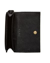 DKNY Black Bryant Park Saffiano Leather Card Case