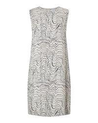 Jigsaw | Multicolor Patella Wave Pleat Back Dress | Lyst