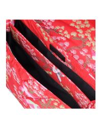 Kurt Geiger Red Fabric Kensington Bag