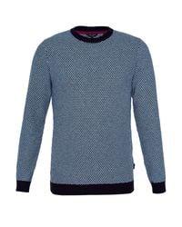 Ted Baker | Blue Coftini Crew Neck Knitted Jumper for Men | Lyst
