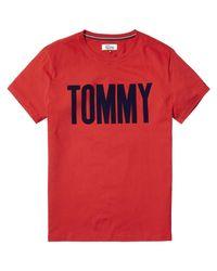Tommy Hilfiger Blue Tommy Logo Tee for men