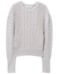 Mango Metallic Cable-knit Metal Sweater
