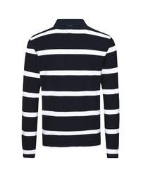 Tommy Hilfiger Blue Tobert Stripe Rugby Top for men