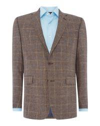 Chester Barrie Brown Men's Albemarle Pow Check Jacket for men