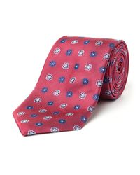 Paul Costelloe | Red Milton Motif Silk Tie for Men | Lyst