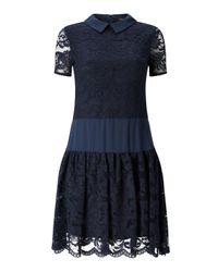 James Lakeland Blue Lace Dress