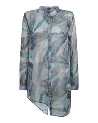Label Lab Green Harley Dragonfly Print Blouse