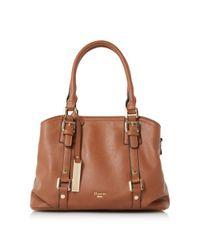 Dune | Brown Dannah Large Buckle Front Handbag | Lyst