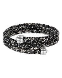 Swarovski - Black Crystal Dust Bangle Bracelet - Lyst