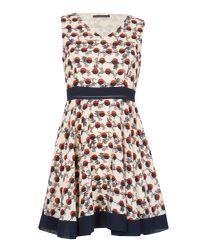 Tenki - Multicolor Sleeveless Geo Circle Skater Dress - Lyst