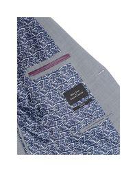 Simon Carter Blue Sb2 Puppytooth Slim Fit Jacket for men