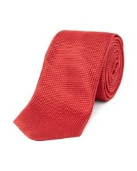 HUGO - Textured Tonal Birdseye Tie for Men - Lyst