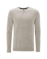 White Stuff - Gray Pitcher Notch Neck Knit for Men - Lyst