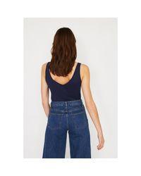 Warehouse Blue V-neck Vest Top